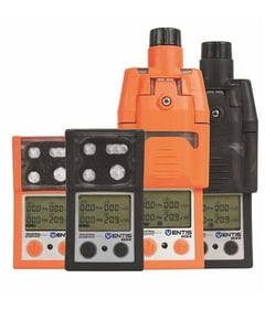 Industrial Scientific VTS-L123110121C Ventis MX4 Multi-Gas Monitor, LEL (Methane), CO, H2S, O2, Lithium-ion Battery, Desktop Charger, High-Visibility Orange, ATEX/IECEx, Soft Case, Chinese