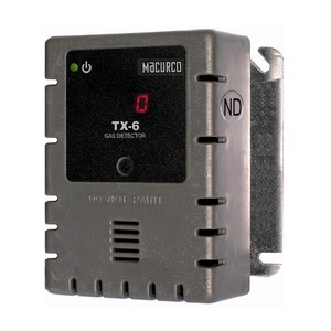 Macurco TX-6-ND WHITE Nitrogen Dioxide NO2 (Low Voltage) Fixed Gas Detector Controller Transducer w/ White Housing 70-2900-0039-0