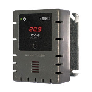 Macurco OX-6 Oxygen O2 (Low Voltage) Fixed Gas Detector Controller Transducer 70-2900-0009-7
