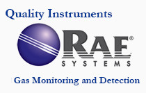 RAE Systems mbb3-a102345-420 multirae,csa.pgm-6228.10.6ev, 5000ppm.co (0-500 ppm).so2.no.no2.900mhz wireless.li-ion bat. w/ alk. adp..monitor only