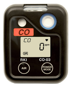 RKI CO-03 Carbon Monoxide, CO, Single Gas Personal Monitor Kit with case, 73-0060-50
