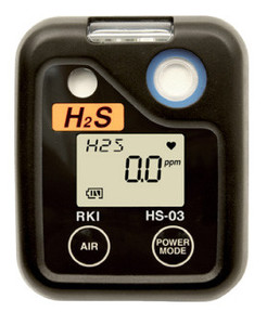 RKI HS-03 Hydrogen Sulfide. H2S, Single Gas Personal Monitor, 73-0062