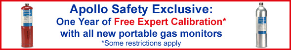 Free Gas Calibration with all new portable gas monitors