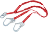 DBI-SALA 1340250 Protecta PRO-Stop 6 ft Double-Leg 100% Tie-Off Shock Absorbing Lanyard with Snap Hook at Center and Steel Rebar Hook at Ends