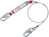 DBI-SALA 1340401 Protecta PRO 6 ft. Pack Cable Shock Absorbing Lanyard with Snap Hook at Ends