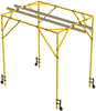 DBI-SALA 8530345 FlexiGuard Fixed Height Box Frame System with 14 ft. Anchor Height, 14 ft. Width, 15.5 ft. Dual Rail and 16 in. Wheels