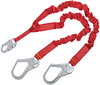 DBI-SALA 1340161 PRO 6 ft. Stretch 100% Tie-Off Shock Absorbing Lanyard with Snap Hook at Center and Steel Rebar Hooks at Ends