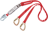 DBI-SALA 1340060 PRO Pack Tie-Back 100% Tie-Off Shock Absorbing Lanyard with Snap Hook and Carabiners at Leg Ends