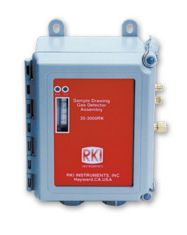 RKI 35-3000rk-lelh gas detector assembly, s.d. housing, 1 point, hydrogen specific lel