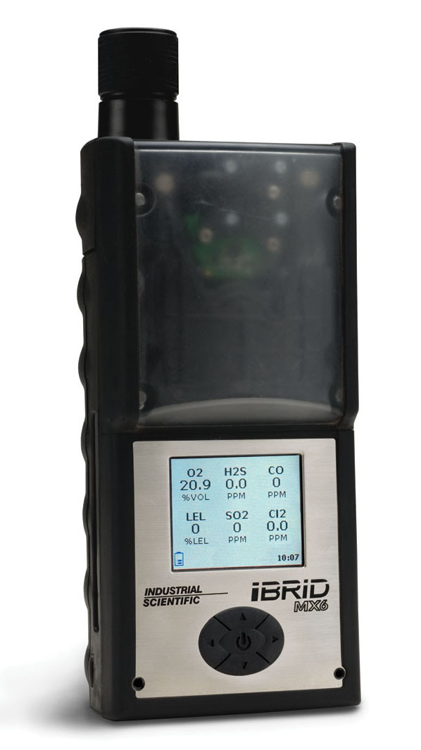 Portable Gas Detection >> Industrial Scientific MX6 iBrid Multigas Monitor MX6-K1230211 Gas Detector - LEL, CO, H2S, O2, Lit-i