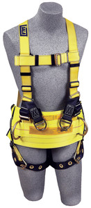 DBI-SALA 1105825 Delta Derrick Harness with Back and lifting D-rings, tongue buckle legs and pass-thru connection for 1000545 derrick belt (Large)