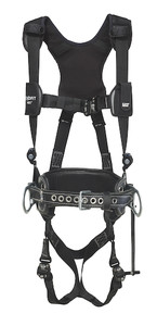 DBI-Sala 1113525 Aluminum back D-ring, locking quick connect buckle leg straps and comfort padding (size Large) with lineman belt (size D25)
