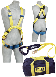 DBI-Sala 1150058 Delta Arc Flash Harness Kit with 1110752 Harness, 1220861 6 ft. Lanyard, Carrying Bag Size XL