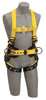 DBI-SALA 1107801 Delta Construction Style Positioning, Climbing Harness, Back, front and side D-rings, belt, pad, tongue buckle leg straps (Large)
