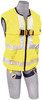 DBI-Sala 1111583 DeltaVest? Hi Vis Yellow WorkVest style harness, reflective, back D-ring, quick connect legs (Small harness) by Capital Safety
