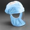 3M Head Cover BE 12B 3 Formerly 522 02 02R03 Blue Regular fabric with polyethylene coating 3 Case 78812400923