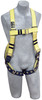 DBI-Sala 1110994 Delta II full body harness, Resist Technology webbing, vest style, back D-ring, tongue buckle legs (XL) by Capital Safety