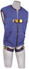 DBI-Sala 1111577 DeltaVest? Cotton Blue Workvest style harness, non reflective, back D-ring, quick connect legs (XL harness) by Capital Safety