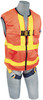 DBI-Sala 1111581 DeltaVest? Hi Vis Orange WorkVest style harness, reflective, back D-ring, quick connect legs (XL harness) by Capital Safety