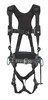 DBI-Sala 1113518 Aluminum back D-ring, locking quick connect buckle leg straps and comfort padding (size Medium) with 2D lineman belt (size D23)