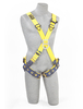 Delta Crossover Style Harnesses with Front & Back D-Rings & Tongue Buckle Legs Medium 1102950