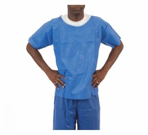 Enviroguard FS2065BL Soft Disposable Scrubs, Denim Blue, Size Large (Case of 50)